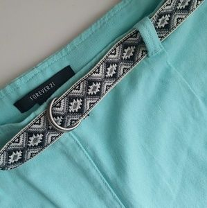 Bright Blue Forever 21 Shorts with Belt